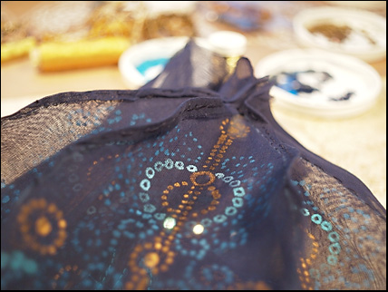 detail seam inside hat