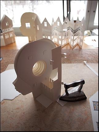 inside of sliceform construction