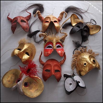 medeltida mask