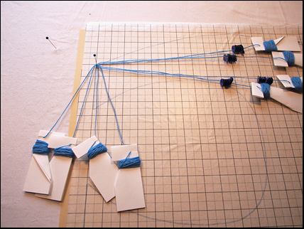 Bobbin lace for a Rebato wip1b start