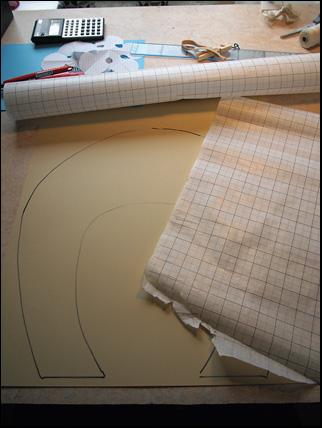 start of bobbin lace rebatto pattern