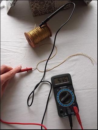 vintage metal embroidery thread