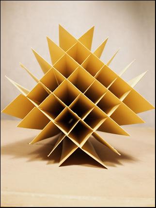 bottom of sliceform pyramid