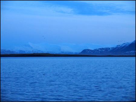 Iskanten sett från Harpa