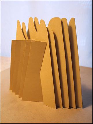 sliceform pyramid cut 1