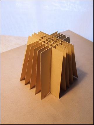 sliceform pyramid cut 2