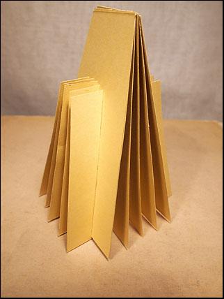 sliceform pyramid standing