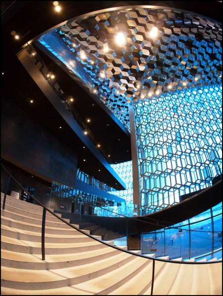 staircase in Harpa