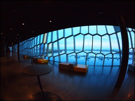 view from inside Harpa