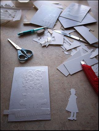 tryckplåter med papercut