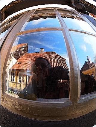 selfie i den gamle by
