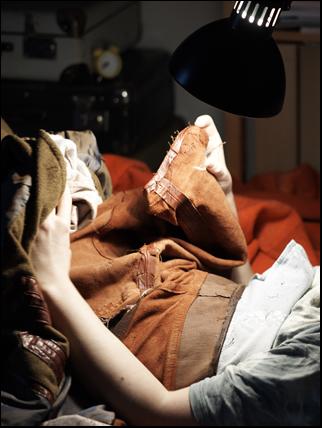 sprätta en läderjacka