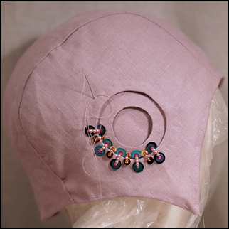 evening cloche hat wip1