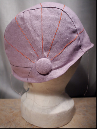 evening cloche hat wip4