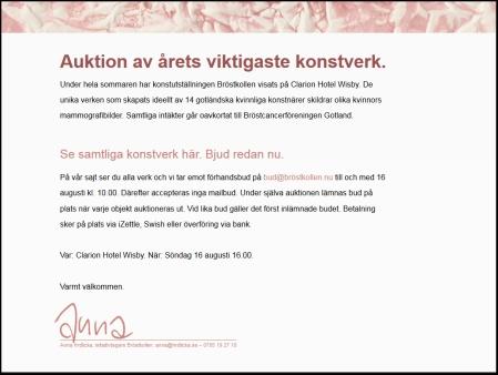 Auktion bröstkollen