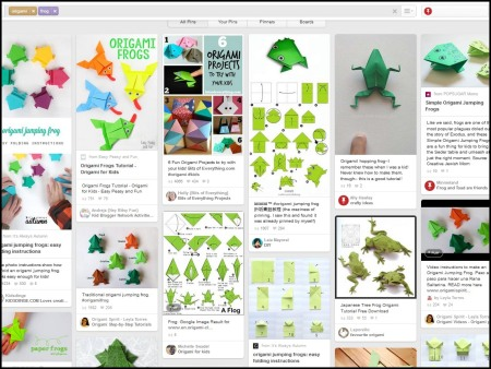 origami frog search on pinterest