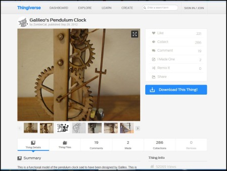galileos pendulum clock by zombiecat