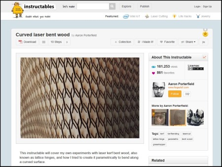 parametric kerf instructables
