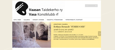 Vasa konstklubb vernissage Botnia biennalen 2016