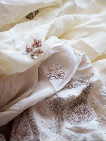 metal thread embroidery on sari